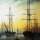 View of a Harbour 1815 by edsimoneit