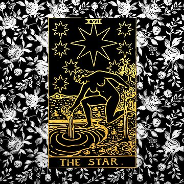 Floral Tarot Print - The Star by annaleebeer
