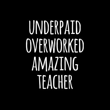 Underpaid Overworked Amazing Teacher by teesaurus