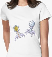 Bacteriophage Structure Illustration Women's Fitted T-Shirt