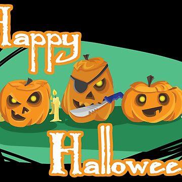 Happy Halloween from 3 Pumpkins by CeeGunn