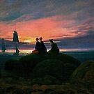 Moonrise over the Sea, 1822 by edsimoneit