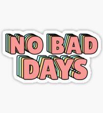 No Bad Days Pastel Sticker