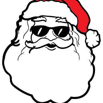 Cool Santa Wearing Sunglasses by Soulfire86