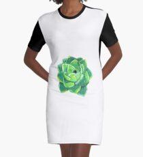 Summery Succulent Graphic T-Shirt Dress