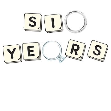 6 Years Iron Wedding Anniversary Unisex Gift Designs by MemWear