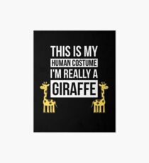 Simple Giraffe Halloween Costume Shirt Human Costume T-Shirt Art Board