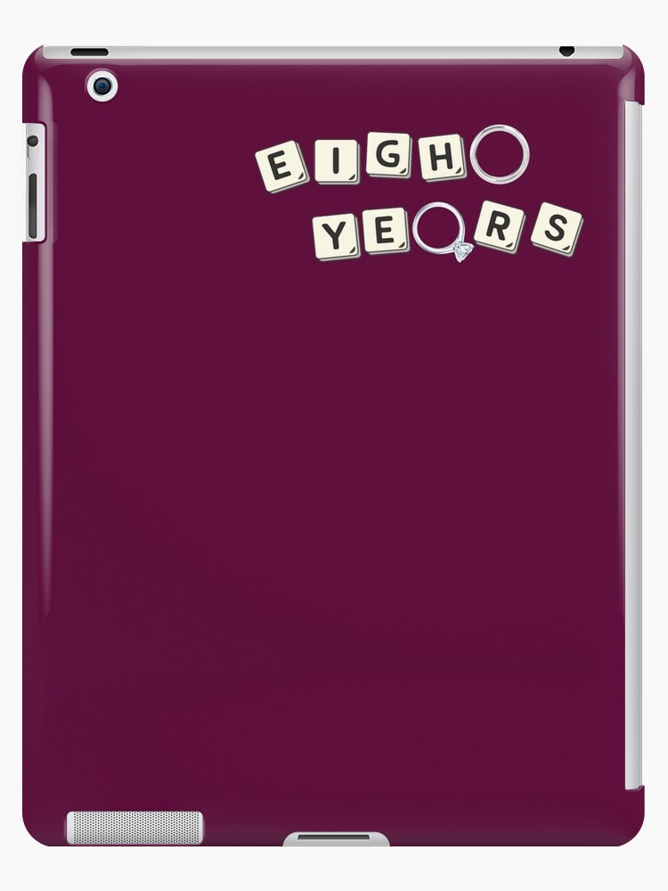 '8 Years Bronze Wedding Anniversary Unisex Gift Ideas' iPad Case/Skin by  MemWear