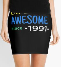 Cool And Awesome Since 1991 Mini Skirt