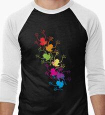 Rainbow Frogs Men's Baseball ¾ T-Shirt