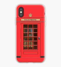 British Red Phone box with Big Ben iPhone Case