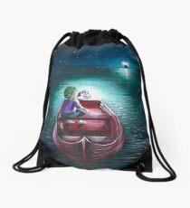 adrift- regret Drawstring Bag