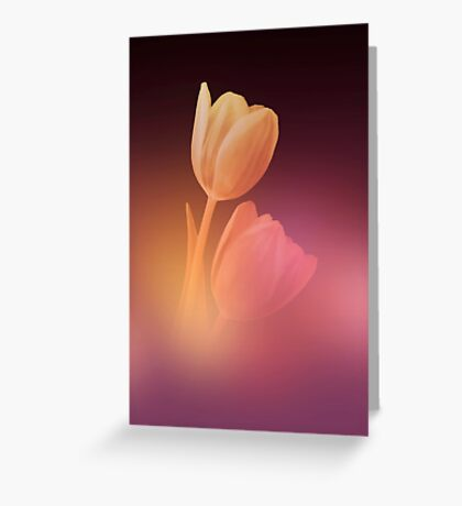 Dreamy Tulips 2 Greeting Card