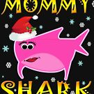 Christmas Mommy Shark Funny Tshirt Design Gift Idea by werdanepo