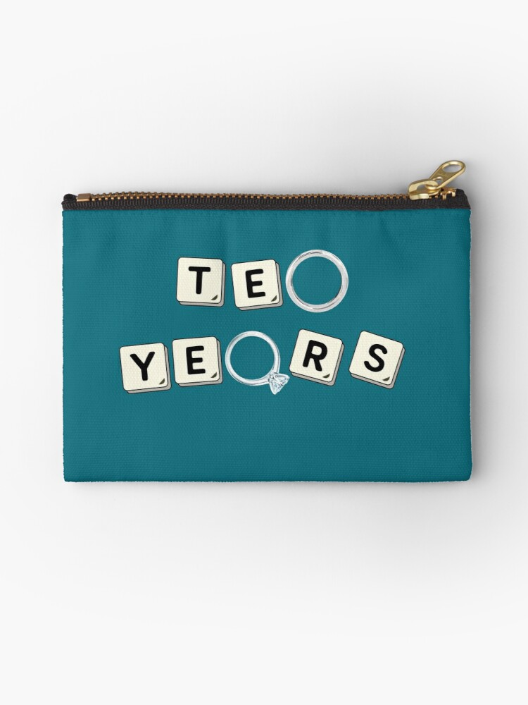10 Years Tin Wedding Anniversary Gift Designs Studio Pouches By