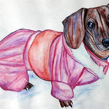Chanel dachshund by GalinaM