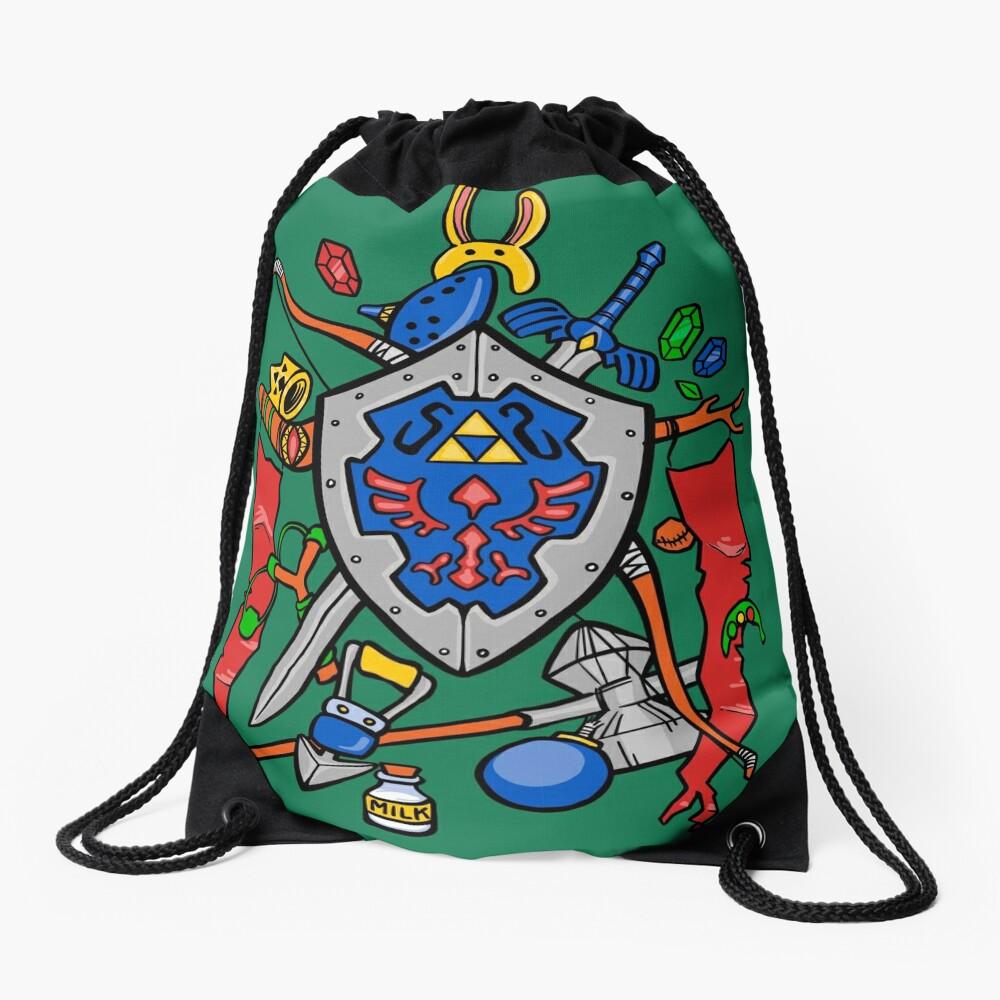Legend of Items Drawstring Bag