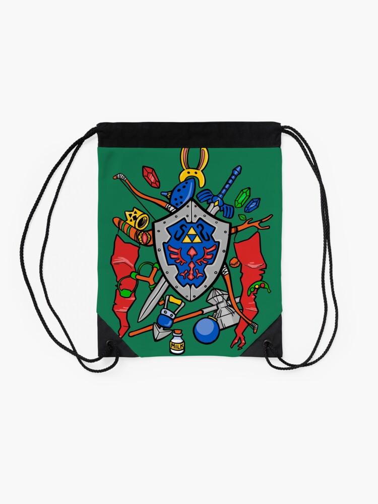 Alternate view of Legend of Items Drawstring Bag