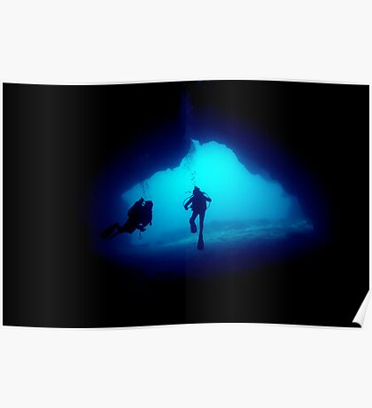 underwater cave Poster