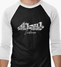 Chattanooga graphic scribble skyline  Men's Baseball ¾ T-Shirt