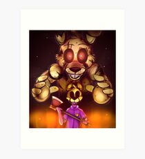 Die In A Fire - Five Nights At Freddy's 3 Art Print