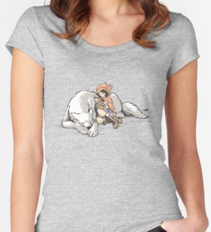Petite Rouge en le Loup  Women's Fitted Scoop T-Shirt