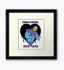 Skeletor is Love! Framed Print