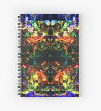 Posthardcore Psychedelic Universum Spiral Notebook