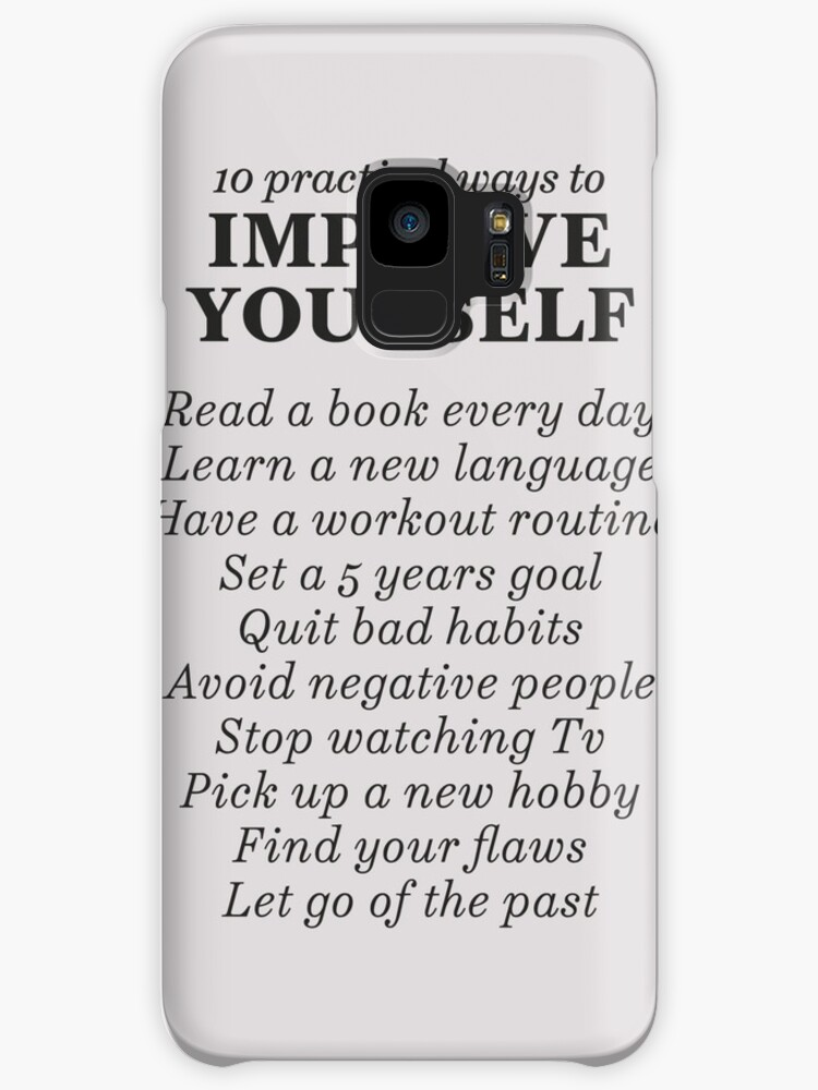 goals to improve yourself