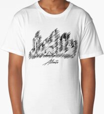 Atlanta graphic scribble skyline  Long T-Shirt
