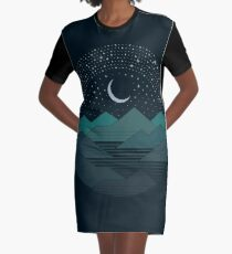 Between The Mountains And The Stars Graphic T-Shirt Dress