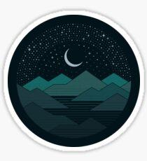 Zwischen den Bergen und den Sternen Sticker