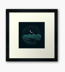 Between The Mountains And The Stars Framed Print