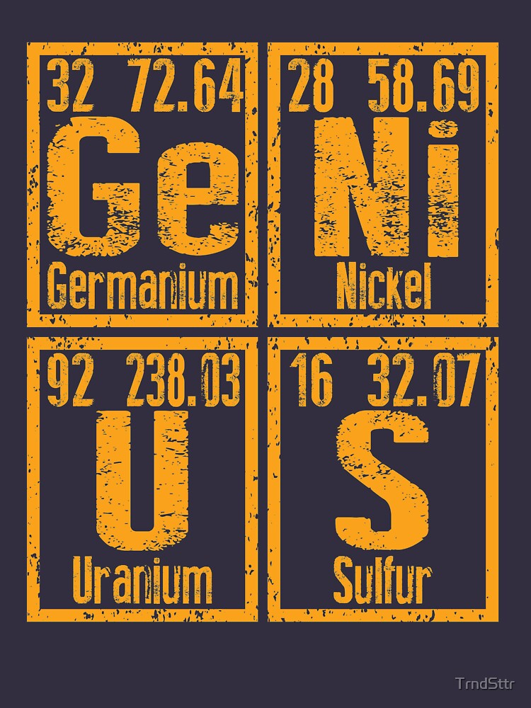 GENIUS Periodic Table Gift for Science Nerds by TrndSttr