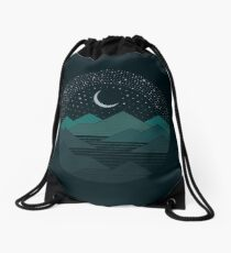 Between The Mountains And The Stars Drawstring Bag