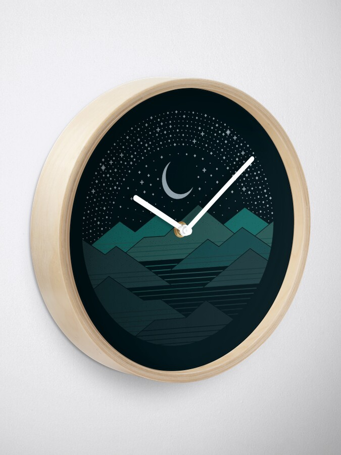 Alternate view of Between The Mountains And The Stars Clock