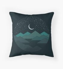 Between The Mountains And The Stars Throw Pillow