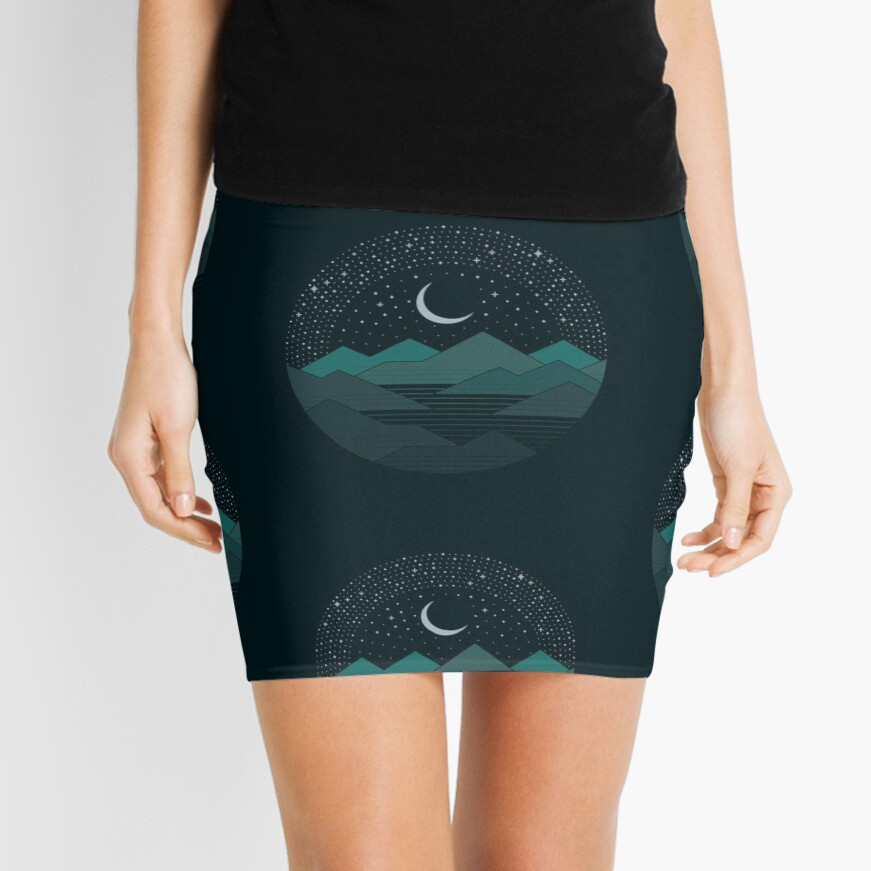 Between The Mountains And The Stars Mini Skirt