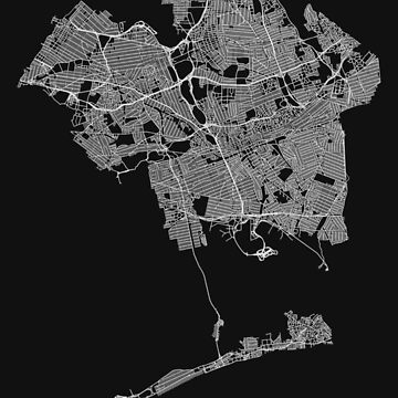 Queens, New York, USA Street Network Map Graphic by ramiro