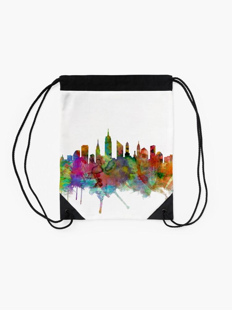 Alternative Ansicht von New York City Skyline Turnbeutel