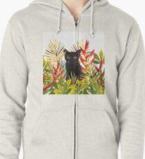 Black Cat Jungle Zipped Hoodie