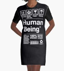 Human Being Ingredients List Graphic T-Shirt Dress