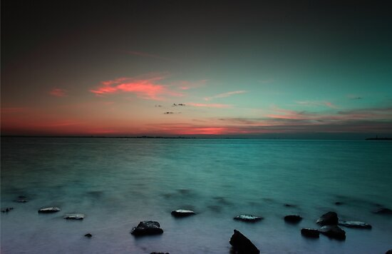 Paradise  at sunrise by kathy s gillentine
