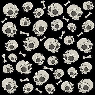 Halloween skull pattern by ValentinaHramov