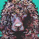 «Irish Water Spaniel Fun Dog brillante colorido Pop Art» de bentnotbroken11