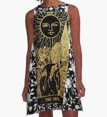 Floral Tarot Print - The Sun A-Line Dress