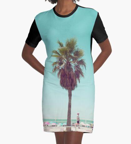 Gerade eine andere Sommer-Postkarte T-Shirt Kleid