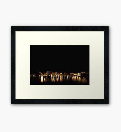 reflections of the night Framed Print