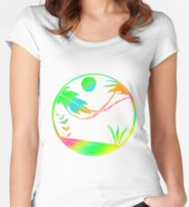 Colorful Art Design Gift Idea Women's Fitted Scoop T-Shirt