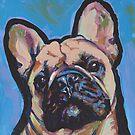 «Divertido colorido del arte pop colorido del perro del dogo francés» de bentnotbroken11